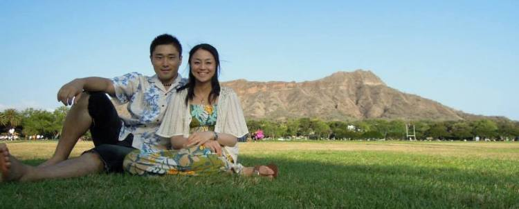Yoriyoshi and Emiko Abe
