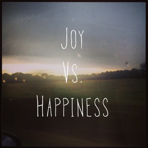 happy vs joy