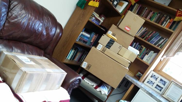 Cardboard box tower!