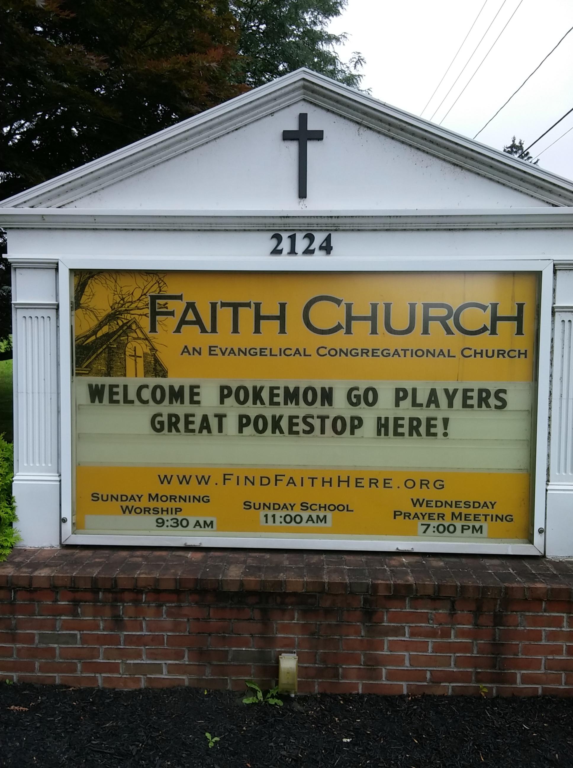 2016-07 Church Sign - Pokemon Go