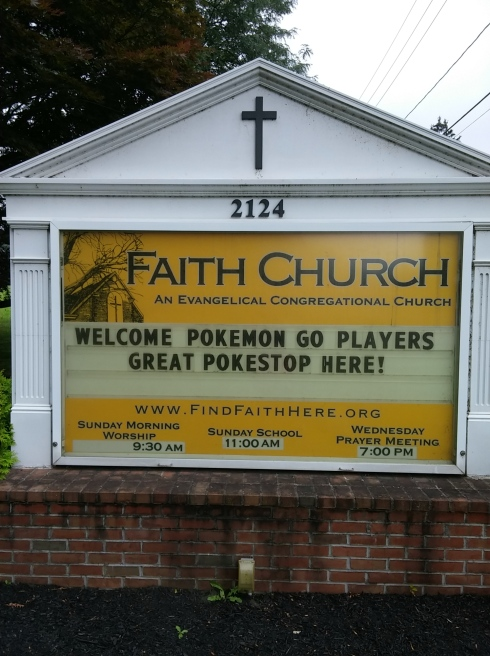 2016-07 Church Sign - Pokemon Go