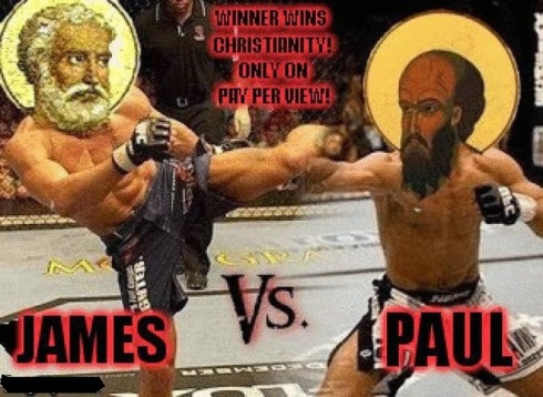 Image result for paul vs james