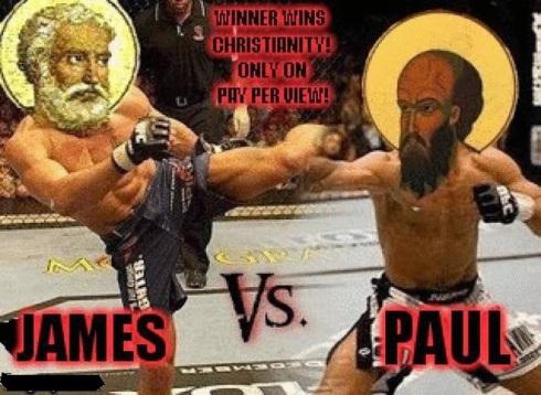 Image result for paul vs james